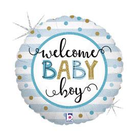 """Palloncino 18"""" mylar Nascita """"Welcome Baby"""""""