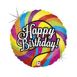 "Palloncino 18"" mylar H.B. Lecca-Lecca ""Lollipop Birthday"""