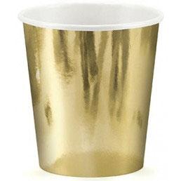Bicchiere carta oro lucido
