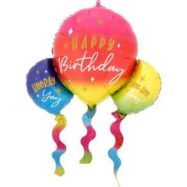 "Palloncino 36"" S.Shape Palloncini ""Birthday Fun Balloons"""
