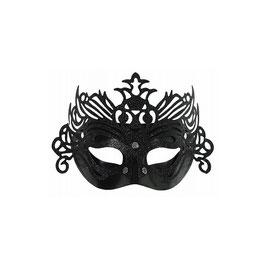 Maschera nera in plastica e glitter
