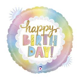 "Palloncino 18"" mylar Happy Birthday ""Opal Birthday"""