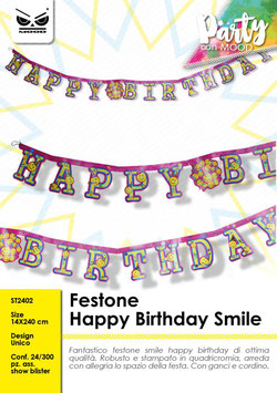 "Festone SMILE ""happy birthday"""