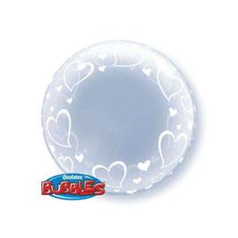 "Palloncino 24"" Deco Bubble Stylish Hearts"