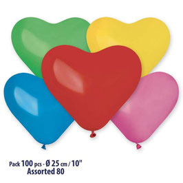 Palloncini Lattice Cuori Medi 16 pezzi 25 cm