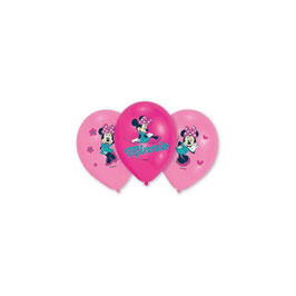 Palloncini Lattice Minnie 6 pezzi 38 cm