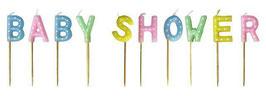 Candeline sagomate Baby Shower Multicolor