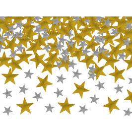 Confetti stelle oro argento