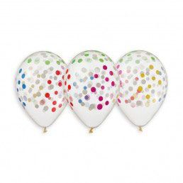 Palloncini Lattice Pois Multicolore 50 pezzi 30 cm