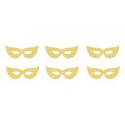 Mascherine Glitter Oro