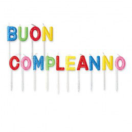 Set candeline picks buon compleanno