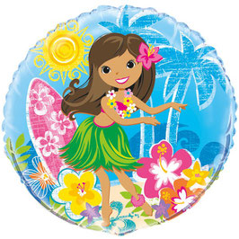 "palloncino 18"" mylar Hula Party"