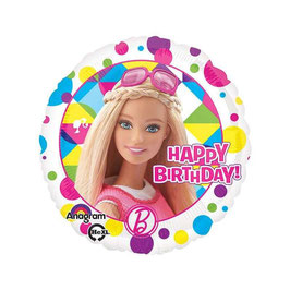 Palloncino Barbie tondo