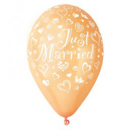 Palloncino Lattice Just Married 100 pezzi 30 cm