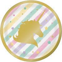 Piatto piccolo Unicorno  8 pz