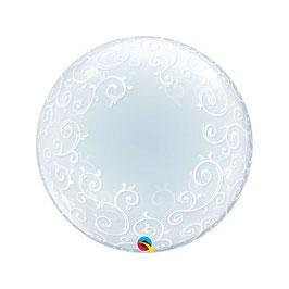 """Palloncino 24"""" Deco Bubble Fancy Filigree"""