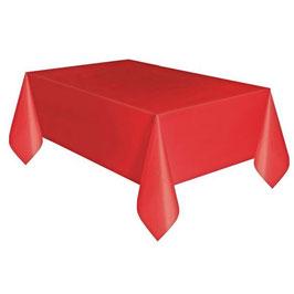 Tovaglia plastica rosso