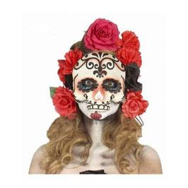 Maschera teschio e rose