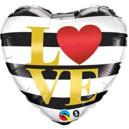 Palloncino Love righe bianco\nero