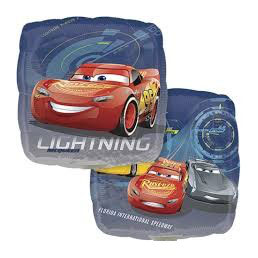 Palloncino Square Cars 3 Lightning