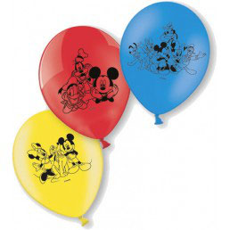 Palloncini in lattice Mickey Mouse 6pz