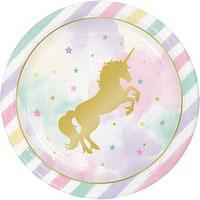 Piatto grande Unicorno  8 pz