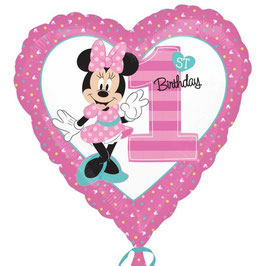 Palloncino mylar Minnie 1st Bday Girl