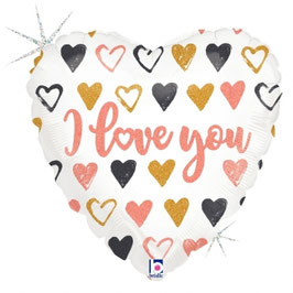 """Palloncino 18"""" mylar cuori I love You"""