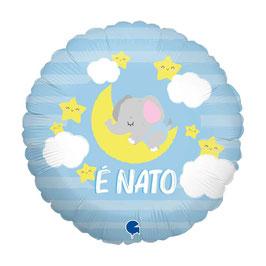 "Palloncino 18"" mylar Nascita Celeste o Rosa ""È Nato/a"""