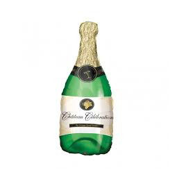 Palloncino Mini Shape mylar bottiglia Champagne
