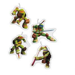 Set 4 Candeline Tartarughe ninja