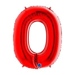 Palloncini Mylar Numero Rosso 1 pezzo 102 cm