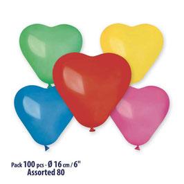 Palloncini Lattice Cuori Piccoli 100 pezzi 9 cm