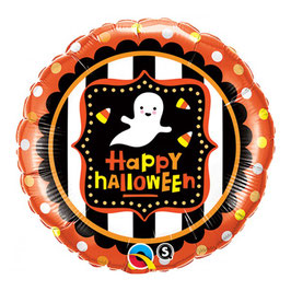 Palloncino Happy halloween righe