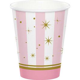 """Bicchiere """"Ballerina Chic"""" Rosa e Oro"""