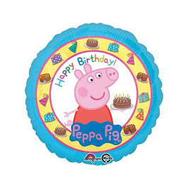 Palloncino mylar Happy Birthday Peppa Pig