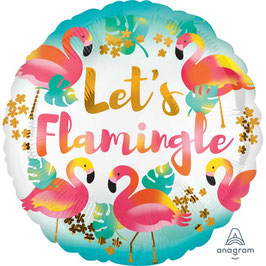 "Palloncino ""let's flamingle"""