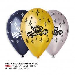 Palloncini felice anniversario