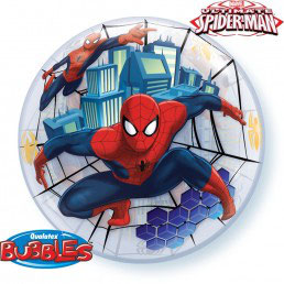 Palloncino Bubble Spiderman 1 pezzo 56 cm