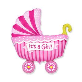 "Palloncino 14"" Mini Shape Carrozzina ""It's a Girl - Boy"""