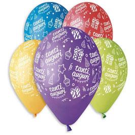 Palloncini Lattice Tanti Auguri 100 pezzi 30 cm