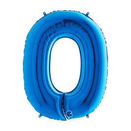 Palloncino Mylar Numero Blu 1 pezzo 102 cm