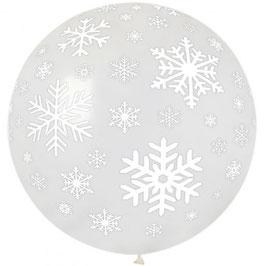 Palloncino gigante Fiocchi di Neve Trasparente
