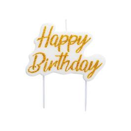 Candela veletta happy birthday oro