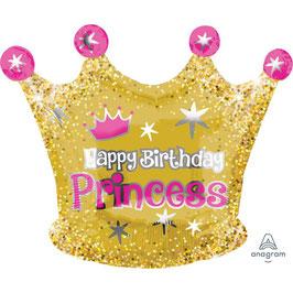 "Palloncino 20"" mylar Corona ""H.B.Princess"""