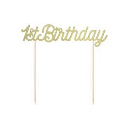 Cake Topper Oro Glitter 1° Compleanno
