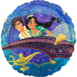 Palloncino tondo Aladdin e Jasmine