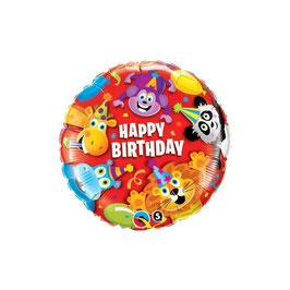 "Palloncino 18"" mylar Birthday Animals"