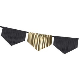 "Decorazione di Frange Oro e Nero ""Gold & Black"" 3mt"