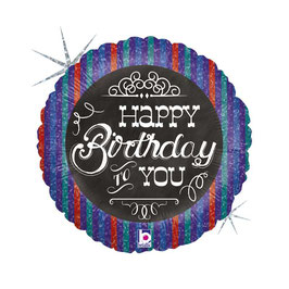 "Palloncino 18"" mylar Happy Birthday To You ""Chalkboard"""